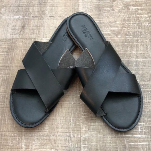 Black Criss Cross Sandals | Poshmark
